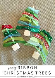craft ribbon bake craft sew decorate easy ribbon christmas trees clutter