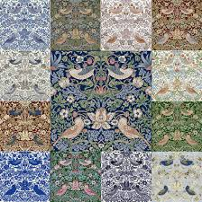 william morris strawberry thief tiles from textiles