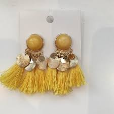 hm earrings 40 h m jewelry h m fringe earrings from angela s closet on