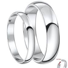wedding bands his and hers matching silver wedding ring sets for him and