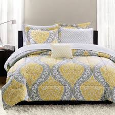 Walmart Bed In A Bag Sets Mainstays Yellow Damask Coordinated Bedding Set Bed In A Bag