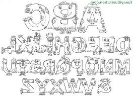 easy english alphabet letters for abc learning coloring pages