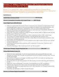 example of military resume military to civilian resume sample