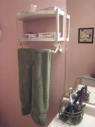 Sumptuous Wooden Bathroom Towel Rack Shelf View In Gallery Aged