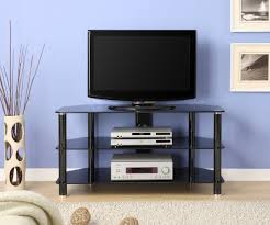Living Room Glass Tv Cabinet Designs Innovex 42 In Black Glass Tv Stand Tc280g29
