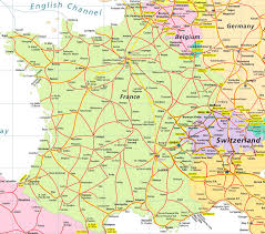 Map Of Southern Italy by Detailed Road Map Of France And Switzerland France And
