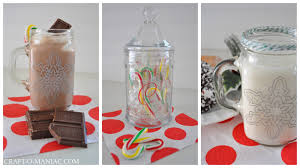 diy christmas stenciled glassware with martha stewart crafts