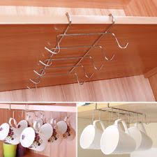under cabinet coffee mug rack stainless steel kitchen mug racks holders ebay