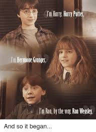 Hermione Granger Memes - i m harry harry potter hermione granger im ron by the way ron