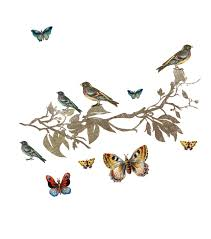 dcwv peel u0026 stick embellishments birds and butterflies glitter joann