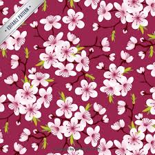 cherry blossoms pattern vector free