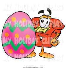 clip art of a red telephone with an easter egg by toons4biz 1784