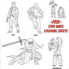 star wars force awakens coloring sheets beauty