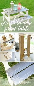 children s picnic table plans diy children s picnic table perfect size for and young