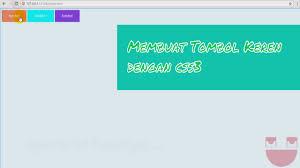 cara membuat menu dropdown keren membuat tombol button keren pada web dengan css3 youtube