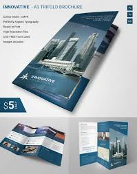 lavish innovative a3 tri fold brochure template free u0026 premium