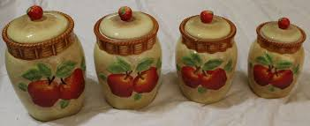 white kitchen canisters sets kitchen accessories apple ceramic decorative kitchen canisters