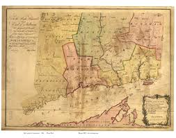 Map New York Connecticut by Old Maps Of Connecticut Reprints