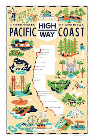 Northern Oregon Coast Map by Best 25 Highway Map Ideas On Pinterest Pacific Coast Time Road