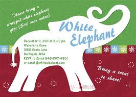white elephant party invitations dancemomsinfo com