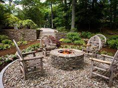 Gravel Fire Pit Area - amenajari din piatra 18 plante pinterest patios gardens and