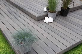 get a modern beautiful deck with grey composite decking