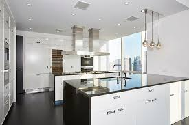 Black And White Contemporary Kitchen - 45 luxurious kitchens with white cabinets ultimate guide