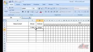 tips membuat jadwal kegiatan harian tutorial cara membuat schedule dengan mudah di excell youtube