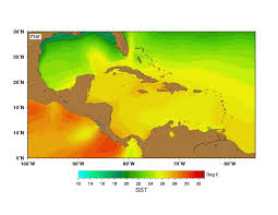 Caribbean Sea Map by Sea Surface Temperatures Sst Maps By Month Wwf