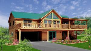 Home Design 1 1 2 Story Log Home Design Plan And Kits For Greenfield