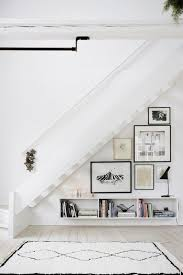 Ideas To Decorate Staircase Wall Cool Way To Decorate A Triangular Staircase Wall Entry Way