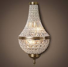 French Empire Chandelier Lighting 19th C French Empire Crystal Sconce Large Sconces Restoration