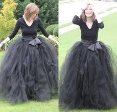 2016 long tutu prom dresses black tulle skirt weddings and formal