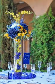 Centerpieces With Sunflowers by Top 25 Best Blue Centerpieces Ideas On Pinterest Blue Flower