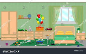 Childrens Bedroom Interior Childrens Bedroom Furniture Festive Decoration Stock