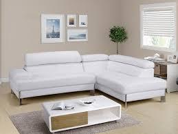 discount canap angle canapé d angle en cuir blanc littoral angle droit pas cher leds noir