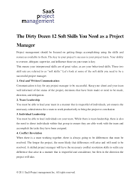 Soft Skills Resume Example by The Dirty Dozen 12 Soft Skills You Need As A Project Manager