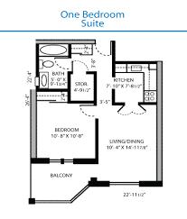 bed one bedroom floor plans