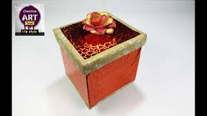 how to make a gift box best out of waste christmas gift at