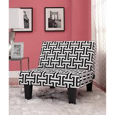 Grey And White Accent Chairs Kebo Chair Black And White Geometric Pattern With Dark Leg