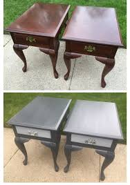 queen anne end tables updated these queen anne end tables with charcoal grey and the