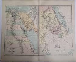 map middle east uk 1887 middle east original antique map colour historical vintage