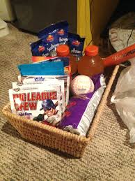 baseball gift basket birthday gift baskets for him kon kon info