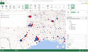Create A Map With Pins Excel Power Map How To Use Mappoint And Maptitude