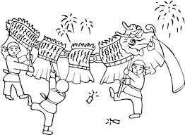 free chinese new year coloring pages glum me