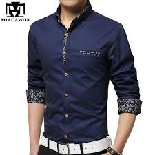 aliexpress com buy miacawor new casual mens shirt print colla