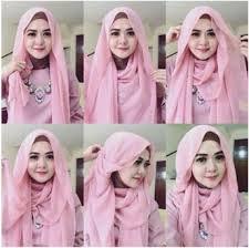 tutorial hijab pashmina tanpa dalaman ninja cara memakai jilbab pashmina simple kreasi terbaru bacaterusnet