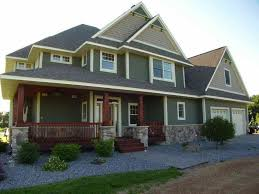 Green Exterior Paint Ideas - additions ideas to a ranch house homedesignpictures combo exterior