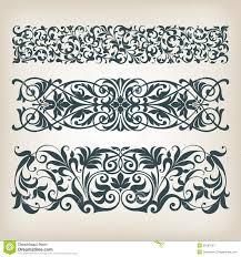vintage set border frame ornate scroll calligraphy vector royalty