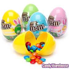 candy filled easter eggs m s easter candy filled plastic eggs 12 display m ms
